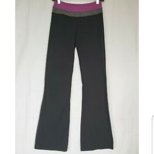 Lululemon Black Wunder Under Pants Wide Leg 4